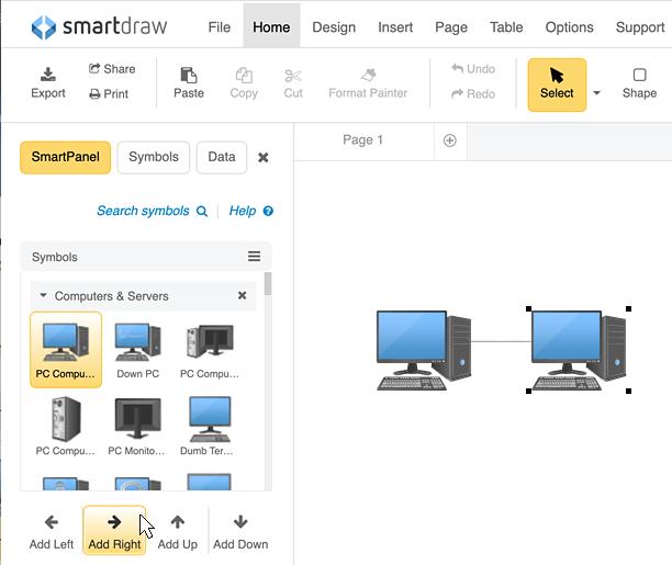 Make network diagrams