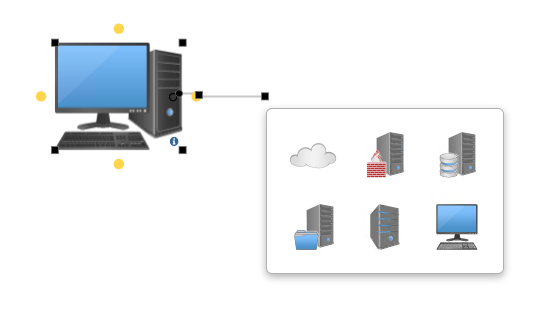 Connect new network symbols