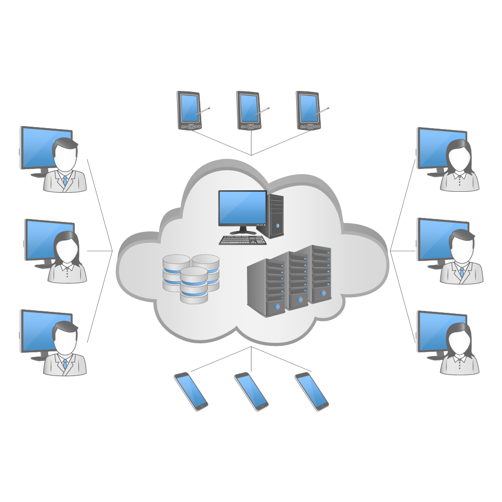 Editable Network Diagram Template