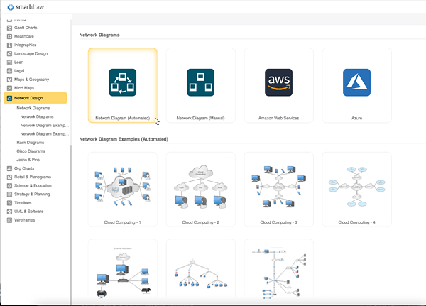 easily draw network diagrams for