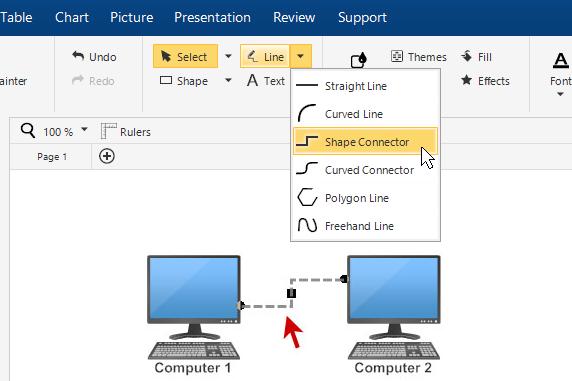 Shape connector