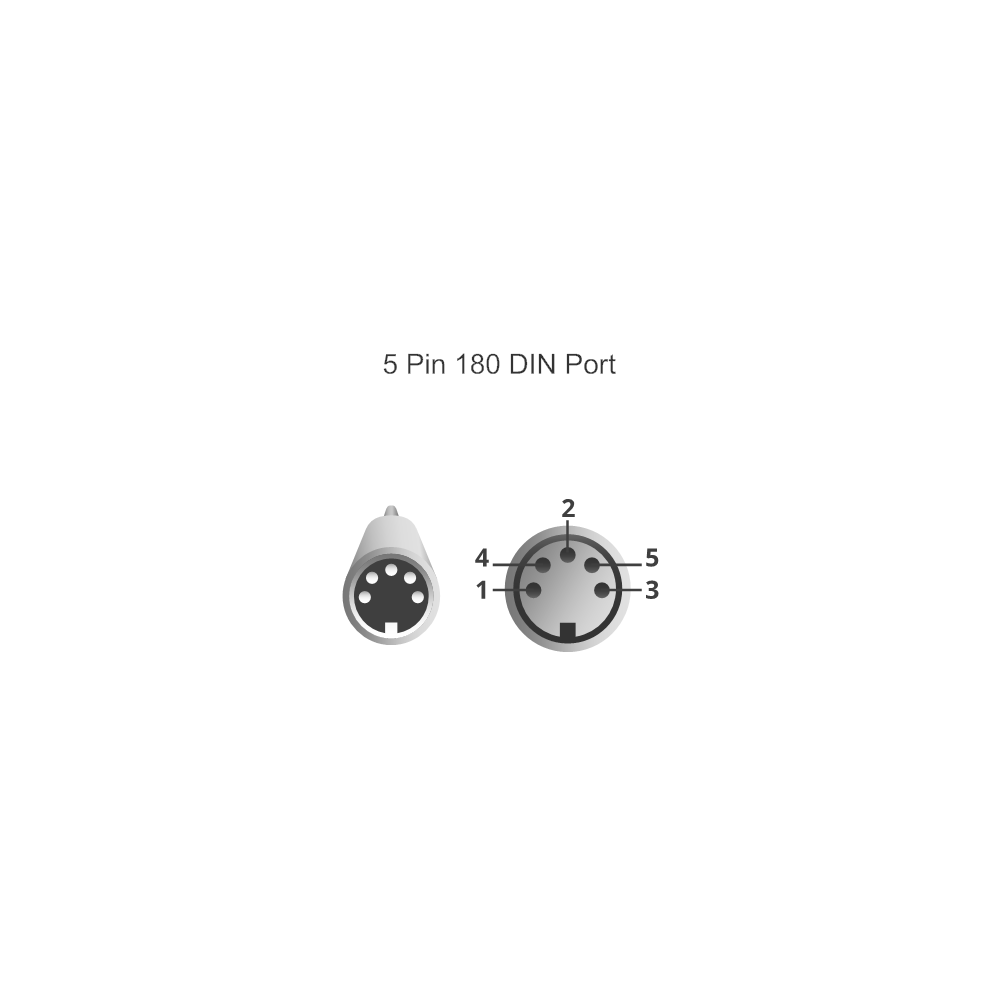 Example Image: 5 Pin 180 DIN Port