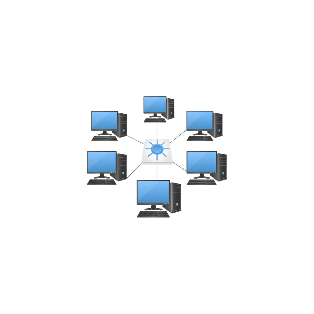 Example Image: Star Network Topology