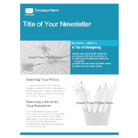 Company Newsletter Template