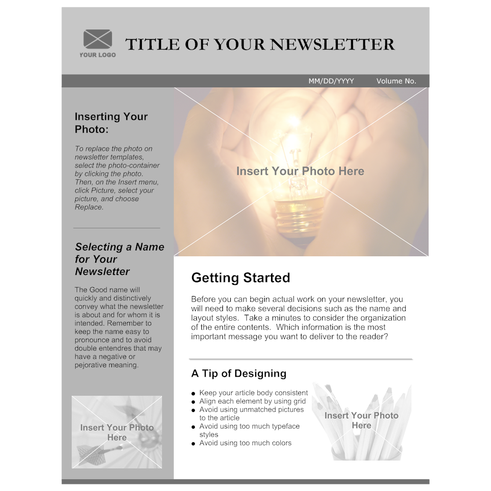 Example Image: Company Newsletter