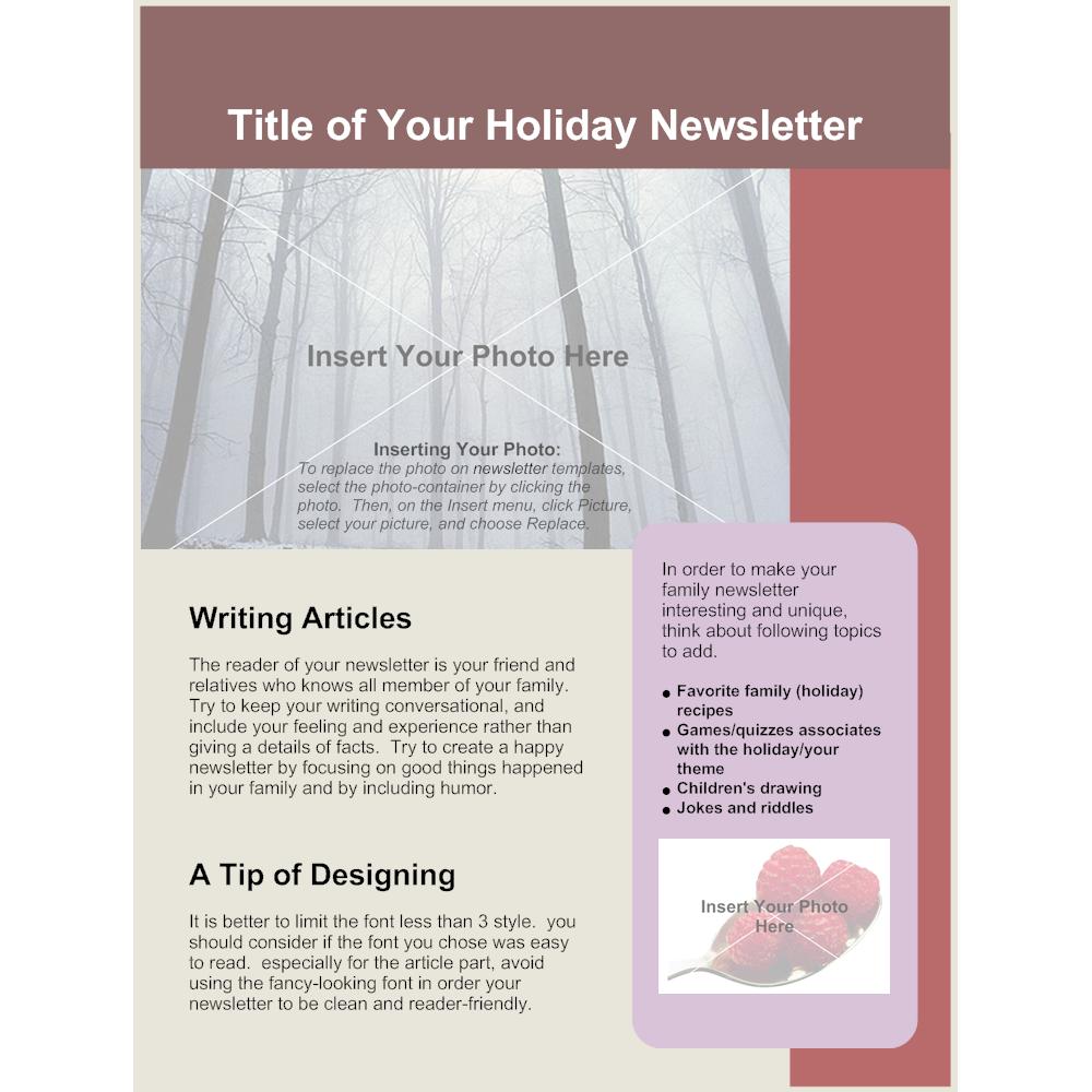 Family Newsletter Template | Family Holiday Newsletter
