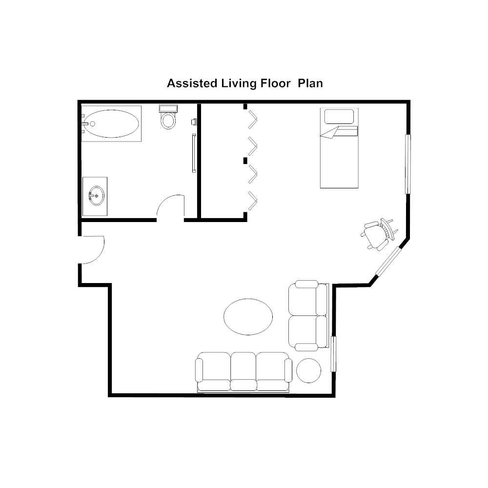 Example Image: Assisted Living Floor Plan