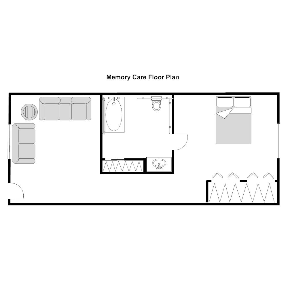 Example Image: Nursing Home Floor Plan