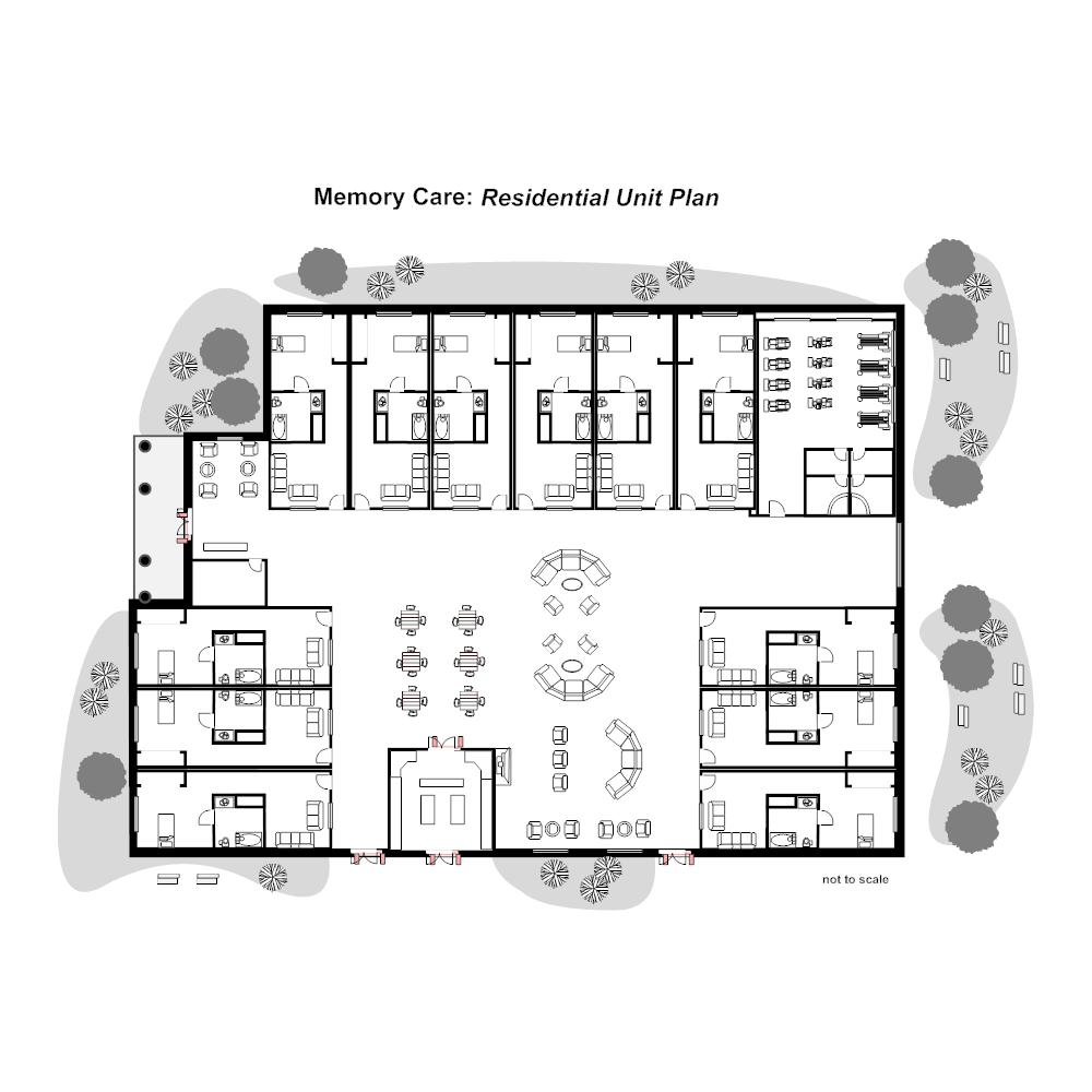 Residential nursing home unit plan for Residential house design plans