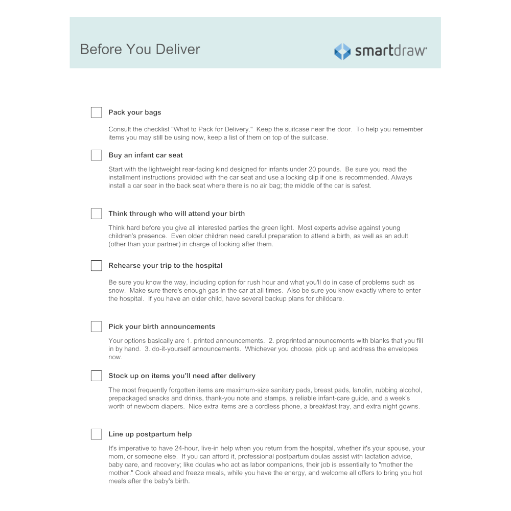 Example Image: Before You Deliver