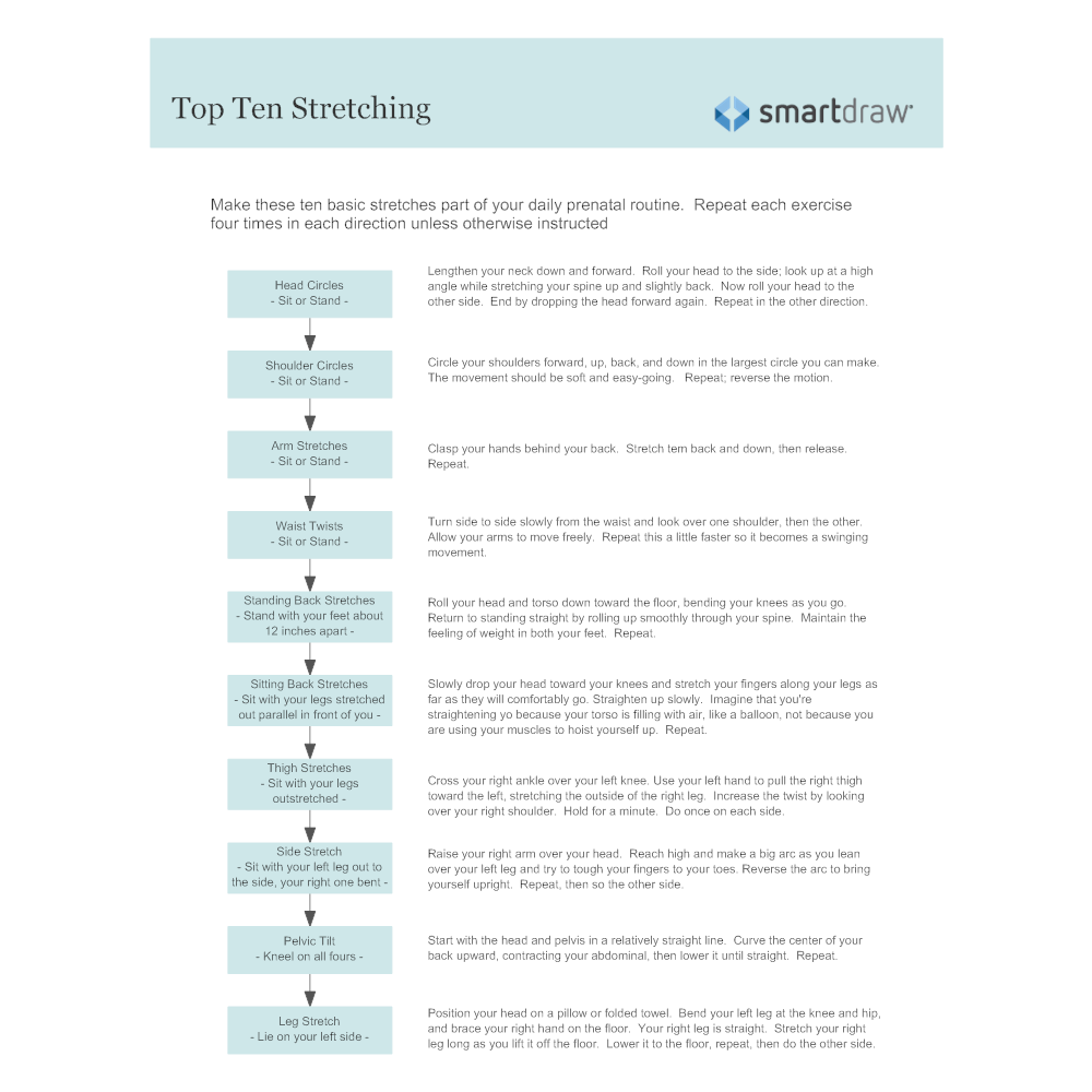 Example Image: Top Ten Stretching