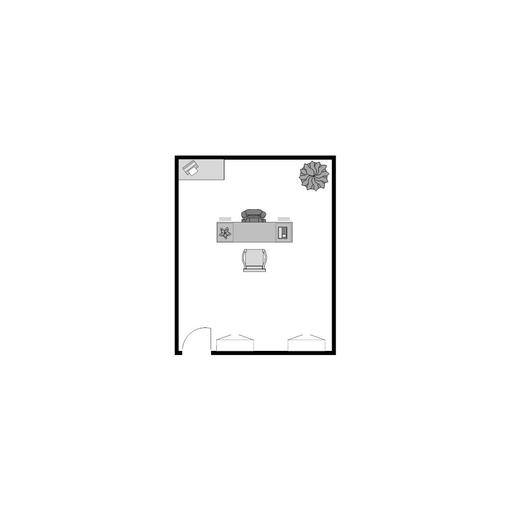 Example Image:  Office Floor Plan 12x15