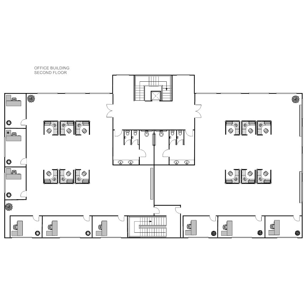 Office building layout for Typical office floor plan