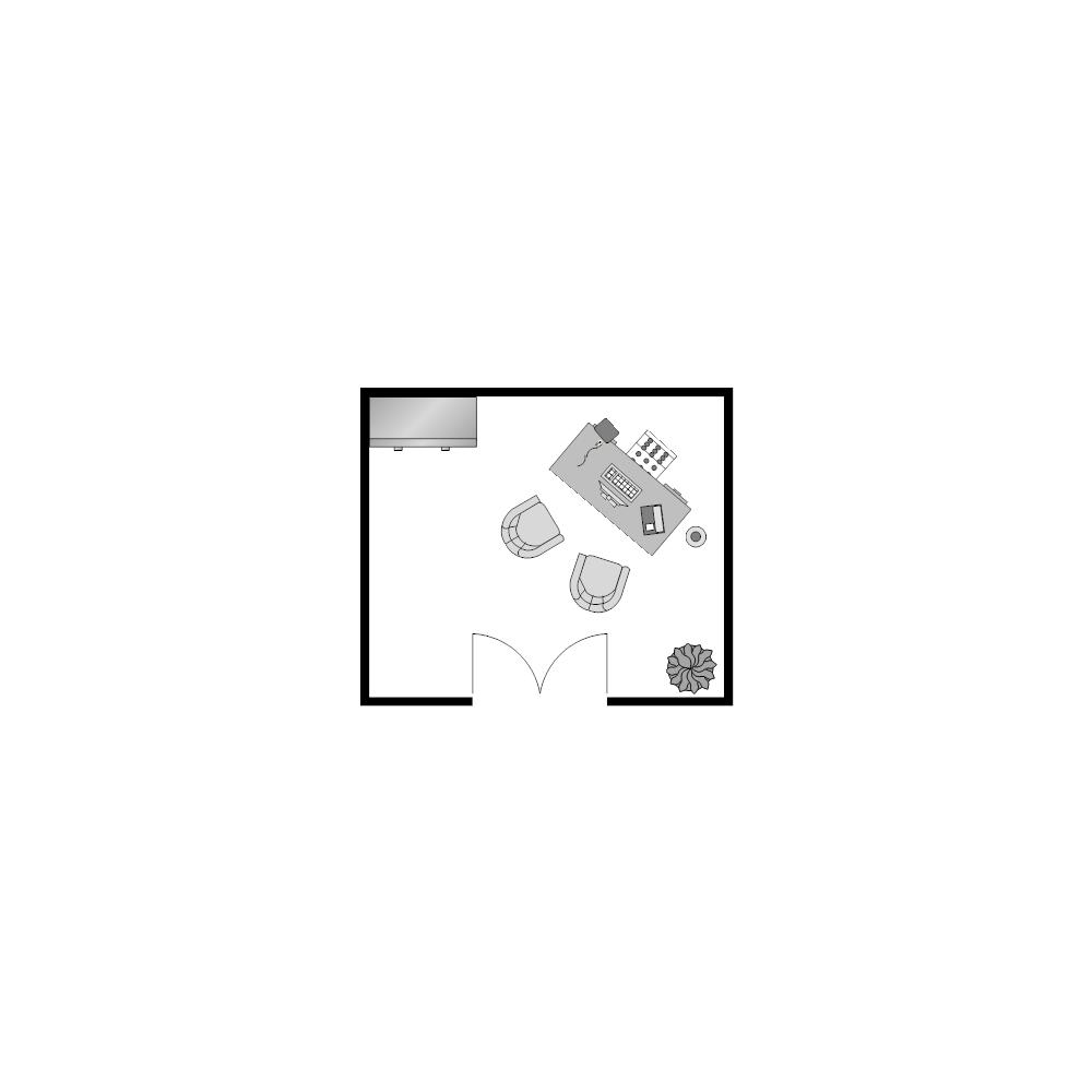 Example Image: Office Floor Plan 11x13