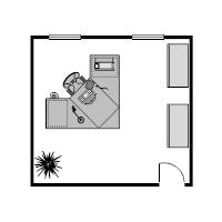 Office Floor Plan 14x13