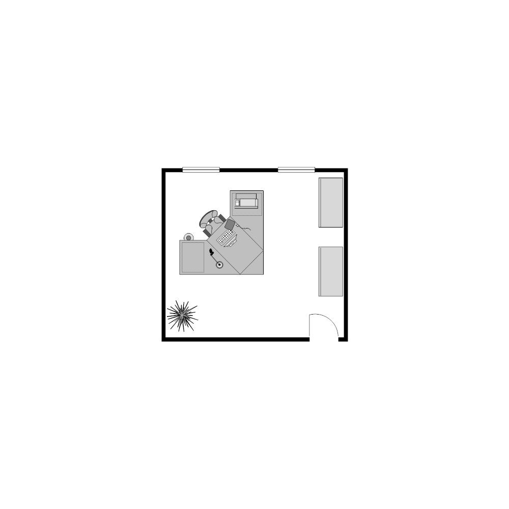 Example Image: Office Floor Plan 14x13