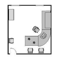 Office Floor Plan 15x17