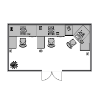 Office Floor Plan 20x11