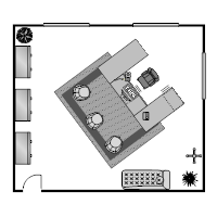 Office Floor Plan 23x20