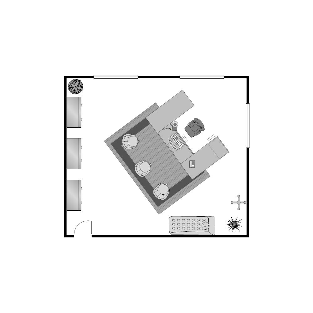 Example Image: Office Floor Plan 23x20