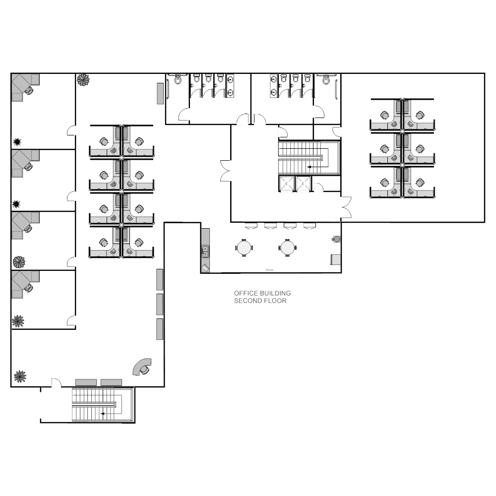 Office layout for Floor plan examples