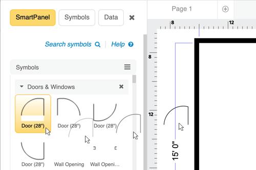 Office plan design tools