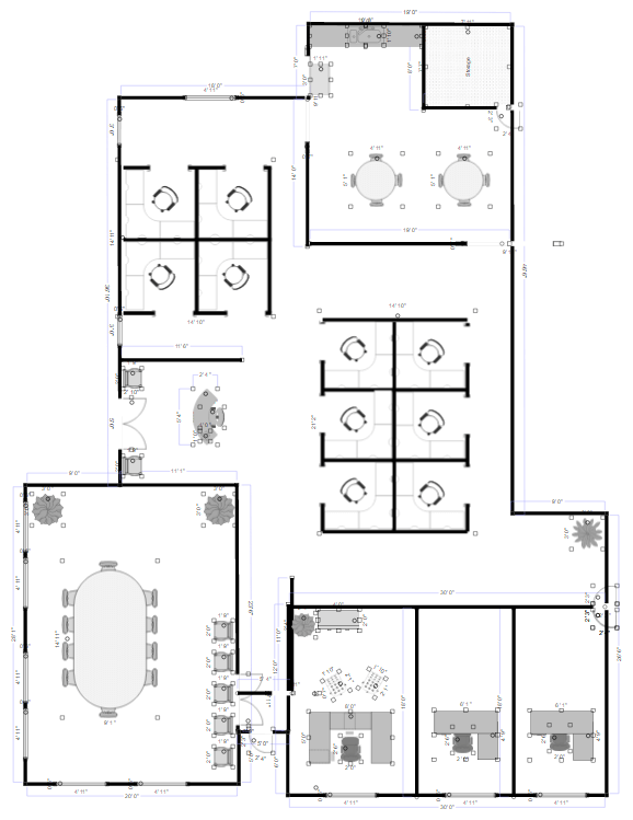 Office layout software free templates to make office plans for Building layout software