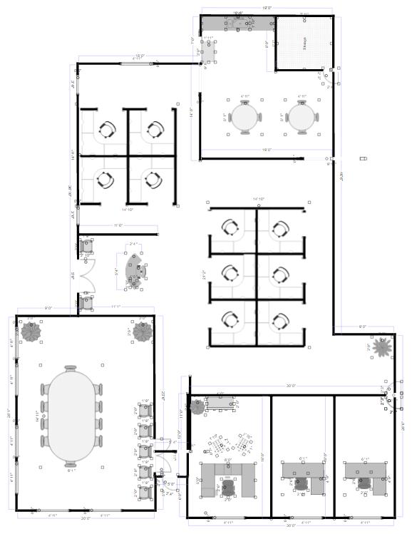Attractive Office Plan
