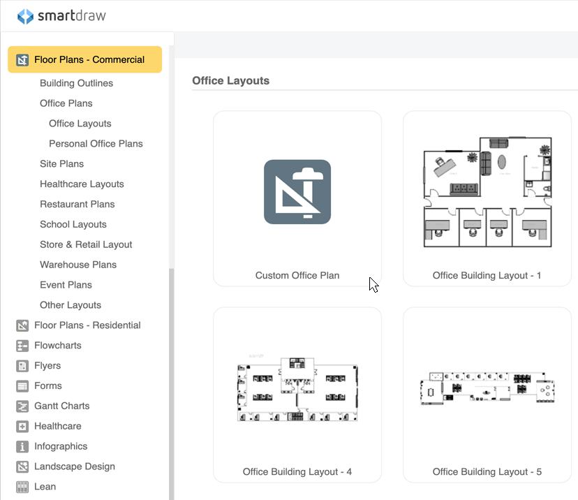 Office plan templates