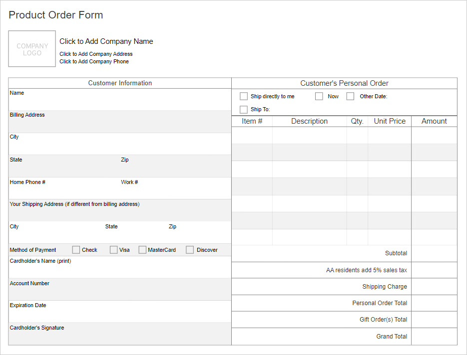 Work order form software