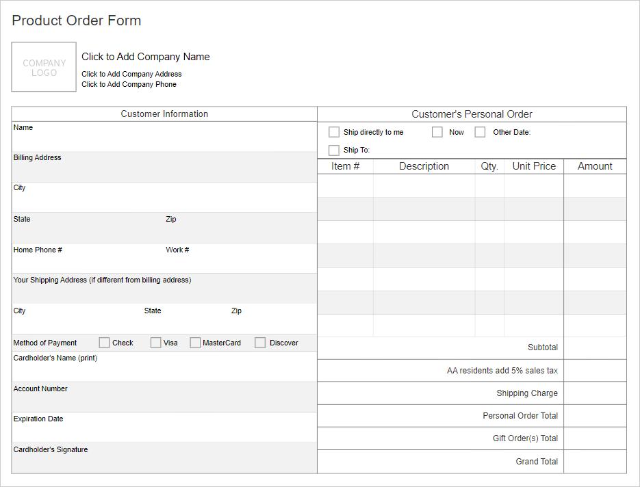 Work order form software