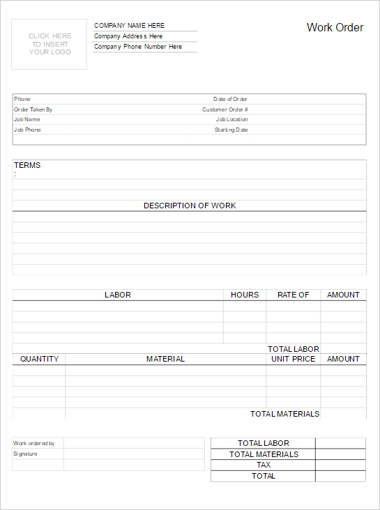 Work Order Form Software - Try it Free and Make Work Order Forms & More