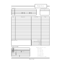 Order Form Templates