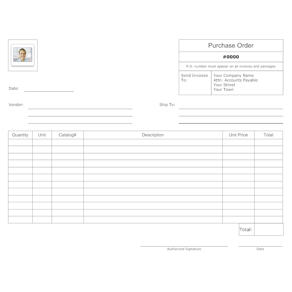 Example Image: Purchase Order Template