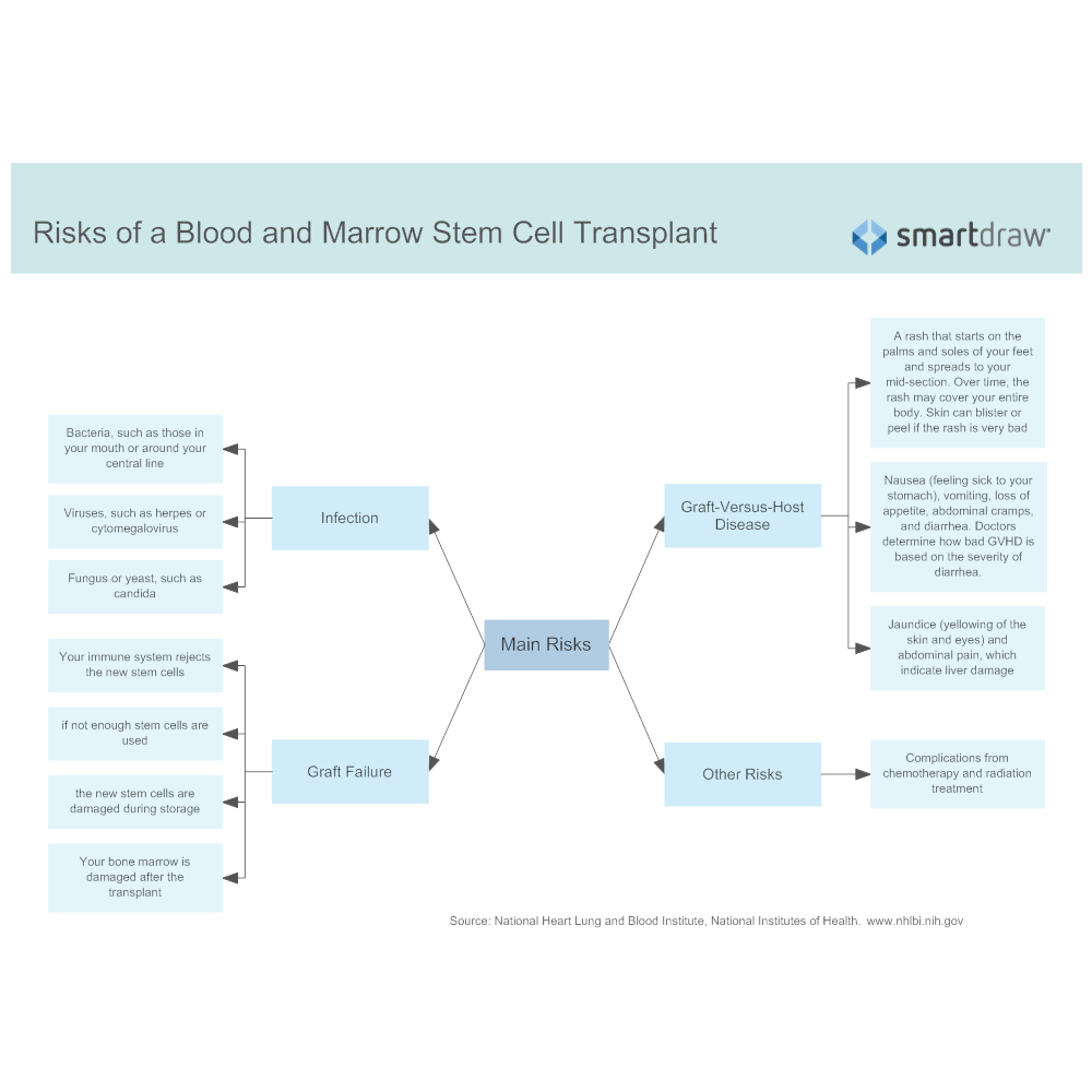 Example Image: Risks of a Blood and Marrow Stem Cell Transplant