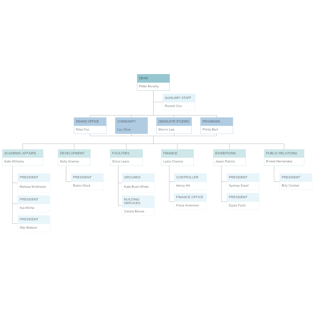 Example Image: College Org Chart