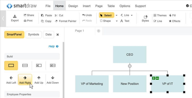 Add org chart peers