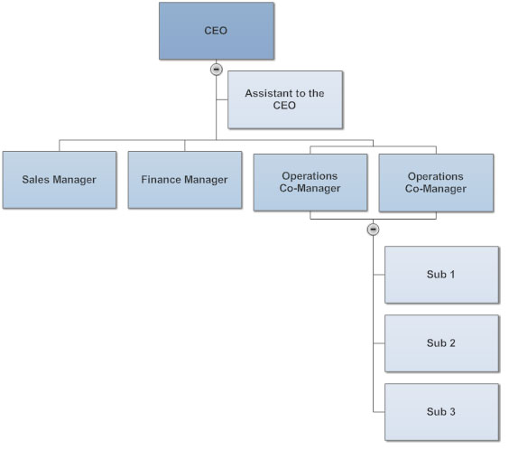 Org chart co-managers
