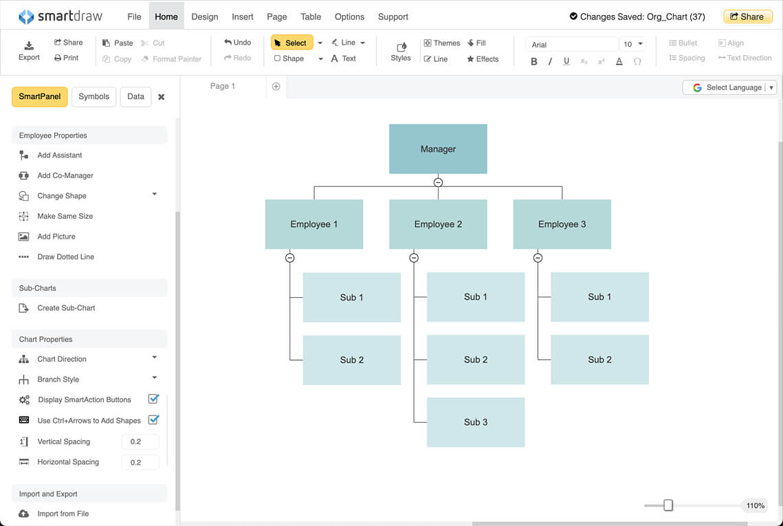 How to create an organizational chart for Create a program online
