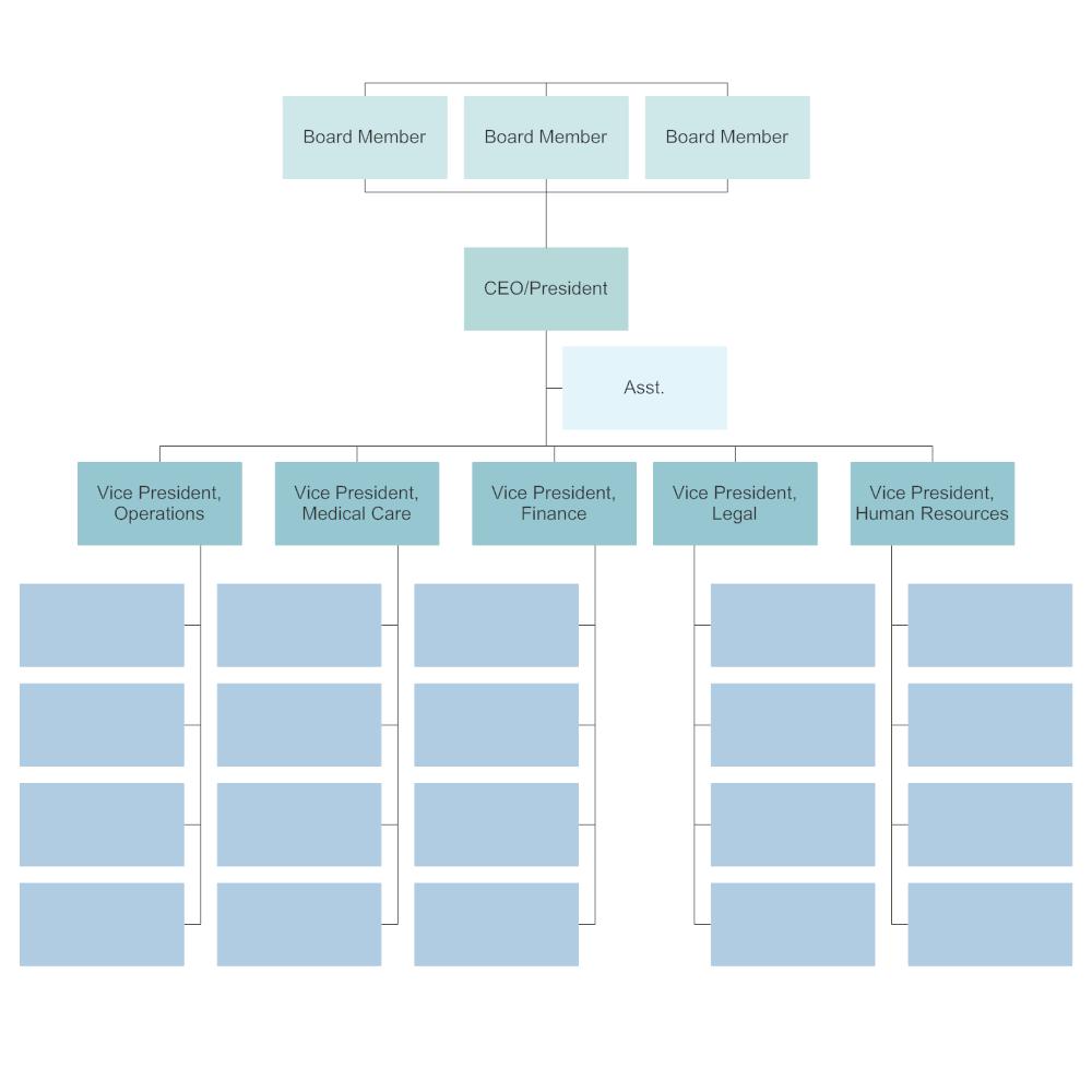 Editable Company Organizational Chart Template