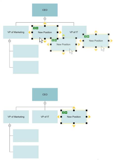 Move org chart shape
