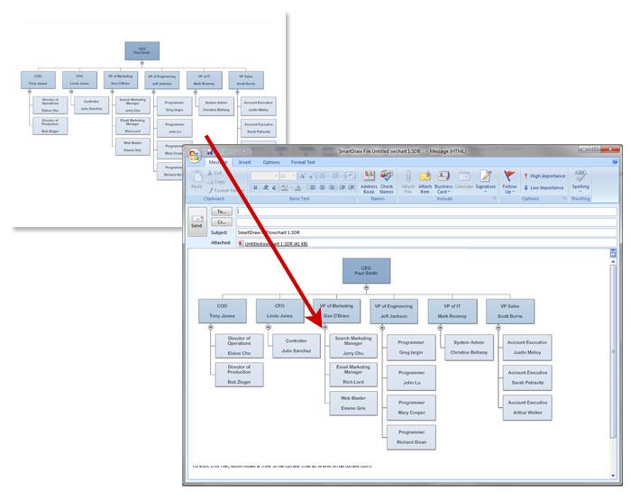microsoft org chart templates