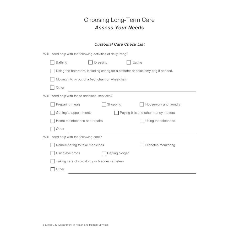 Example Image: Choosing Long-Term Care - Assess Your Needs