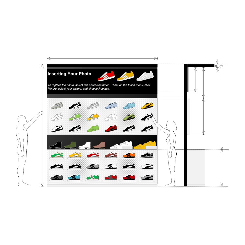 Example Image: Shoe Store Planogram