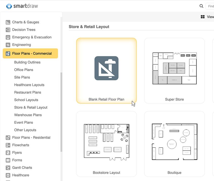 Planogram templates