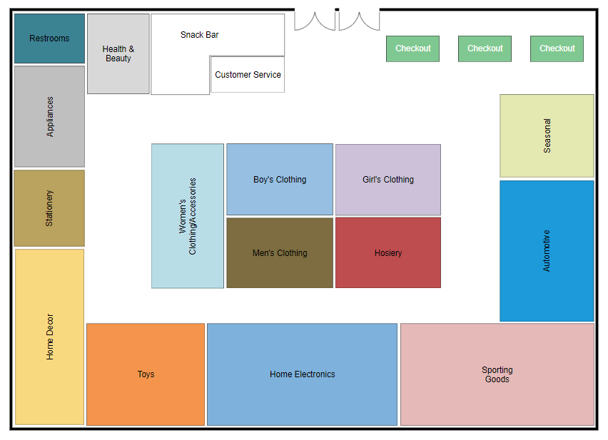 Store layout software try it free and design store plans for Software for planning room layouts