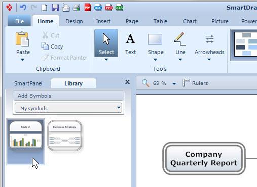 Custom slide library