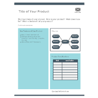 Product Sheet Template 2