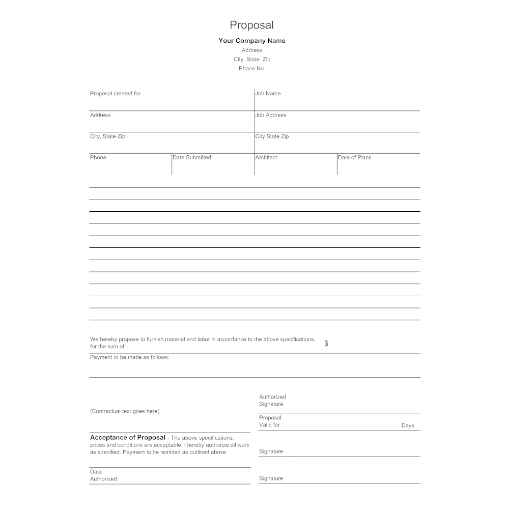 business proposal form
