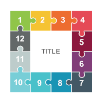 Puzzles 23 (Square 12 Pieces)